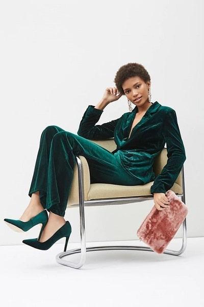 tailleur femme vert