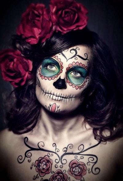 maquillage tête de mort mexicaine