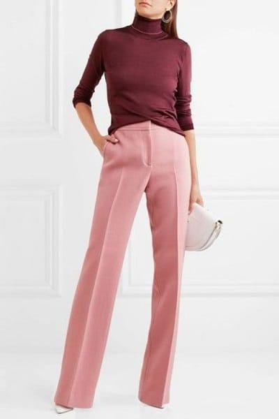 pantalon rose mariage hiver