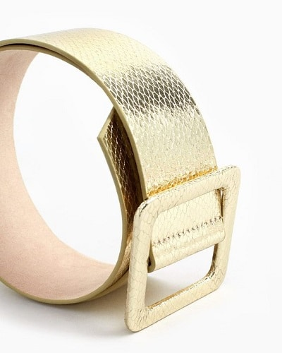 ceinture métallisée dorée