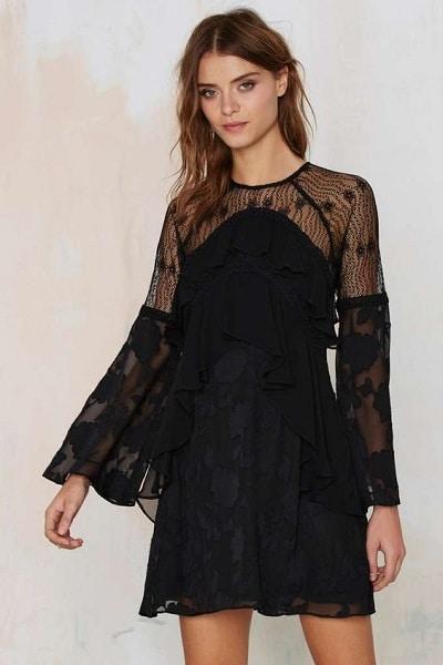 robe noire fêtes