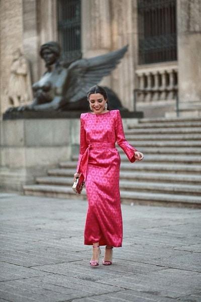 robe rose fuchsia mariage