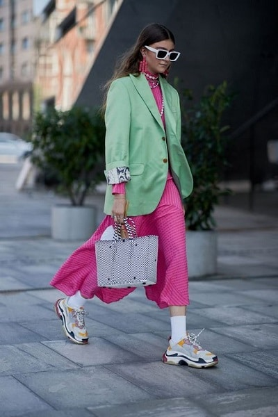 robe rose fuchsia