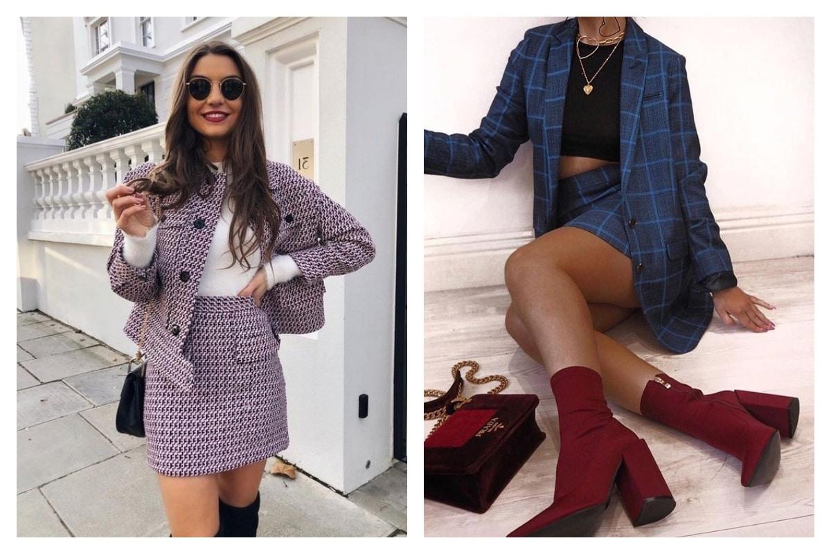 tendance tailleur jupe