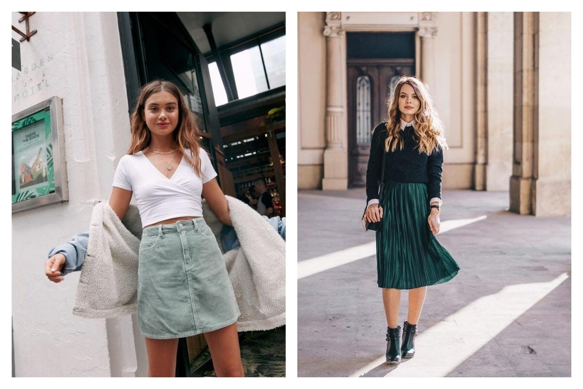 Tout savoir de la tendance jupe verte associations, looks, coupes ...