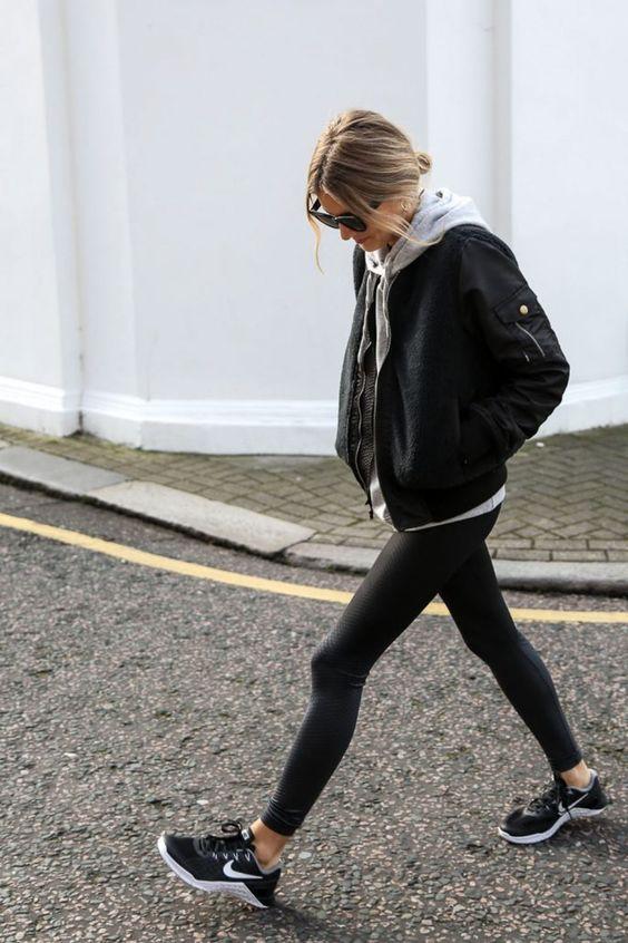 legging femme style rock