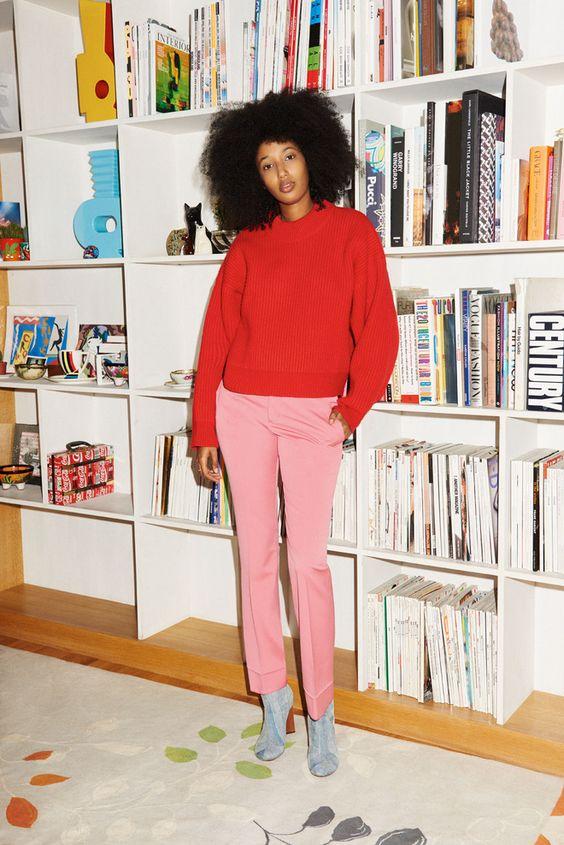 pull rouge femme tendance