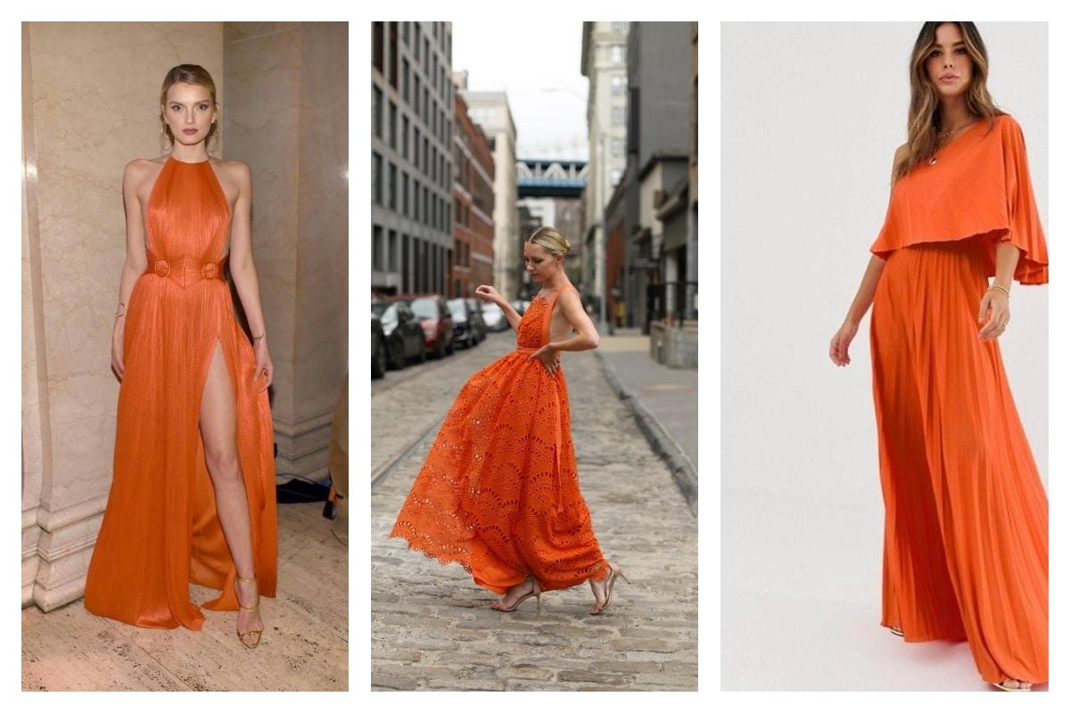 porter robe orange