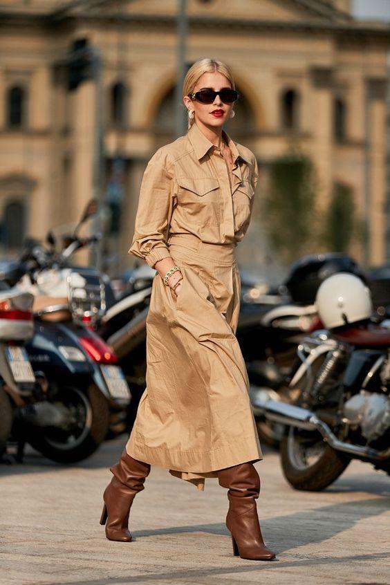 robe longue saharienne