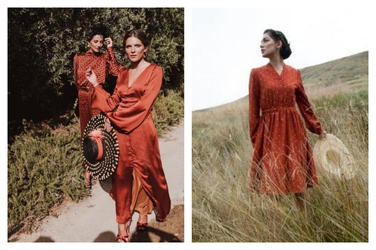 robe orange longue