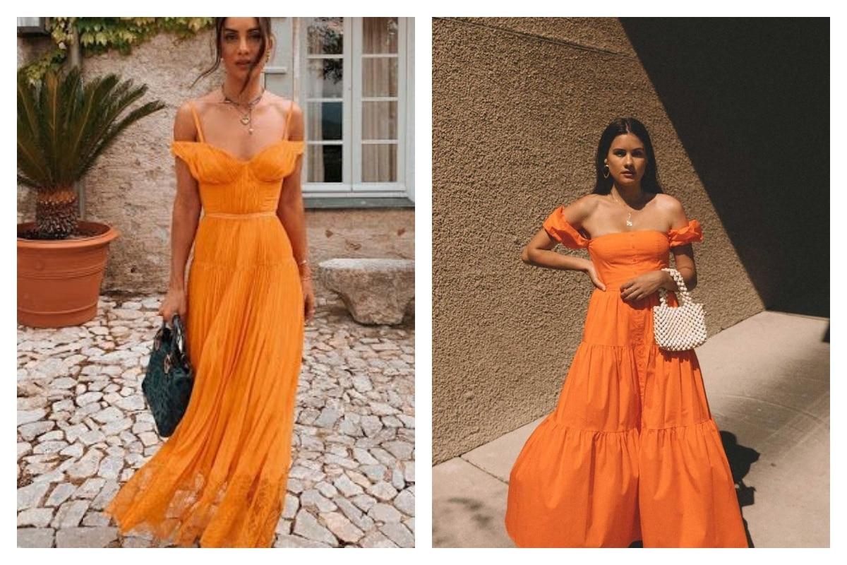 une robe orange