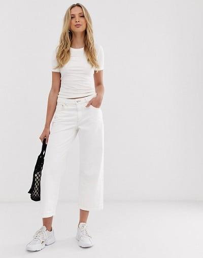 JUPE culotte jean blanc