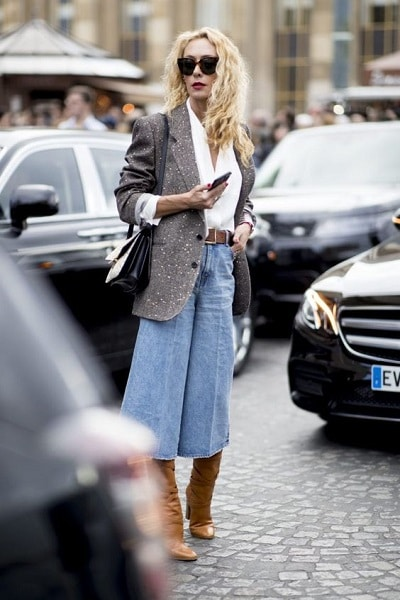 jupe culotte look