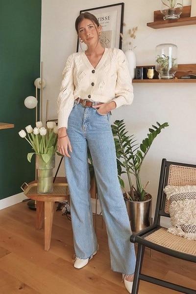 porter un jean wideleg femme