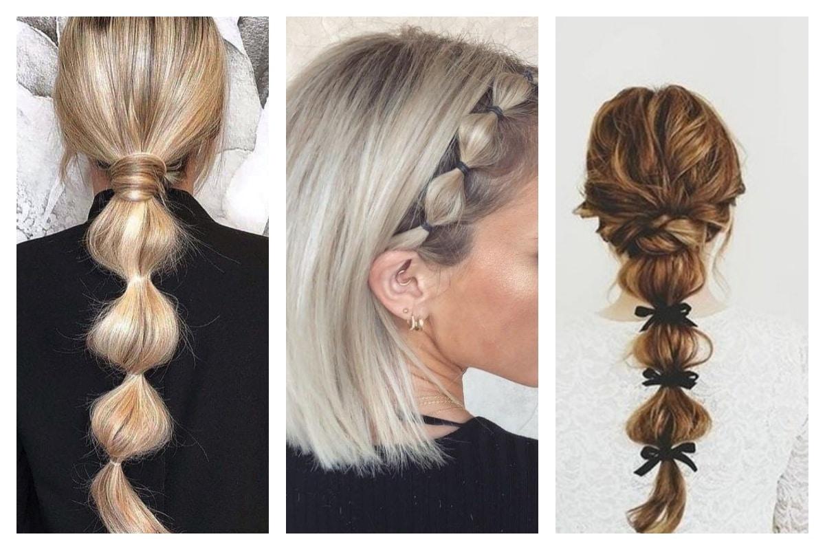 Bubble braid la nouvelle coiffure tendance du moment