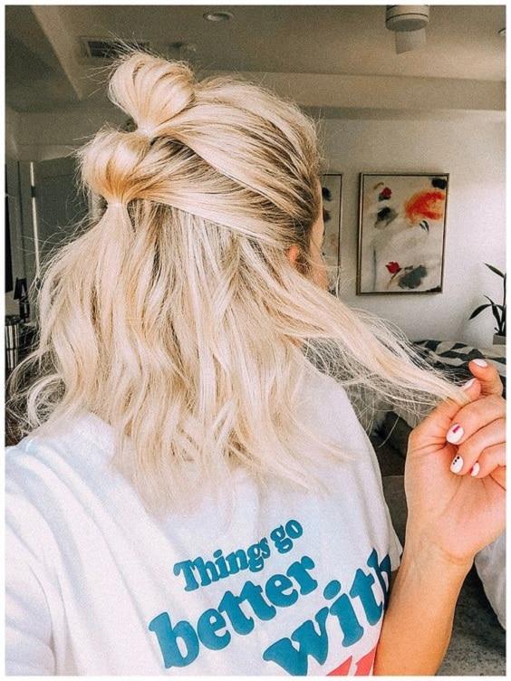 bubble braid femme coiffure