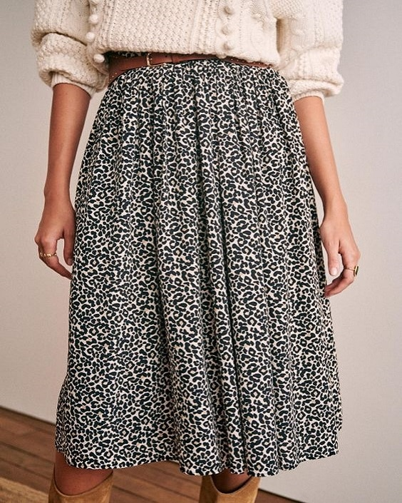 jupe léopard femme