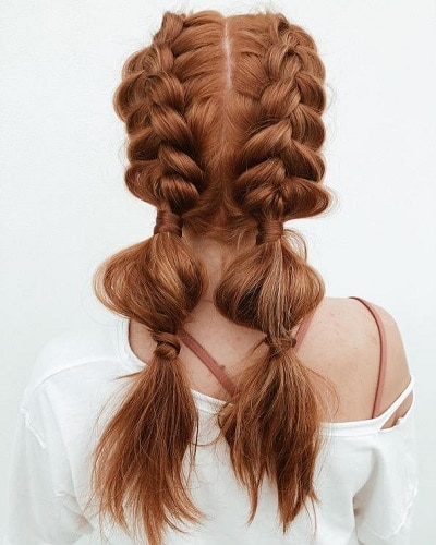 tresse bubble braid