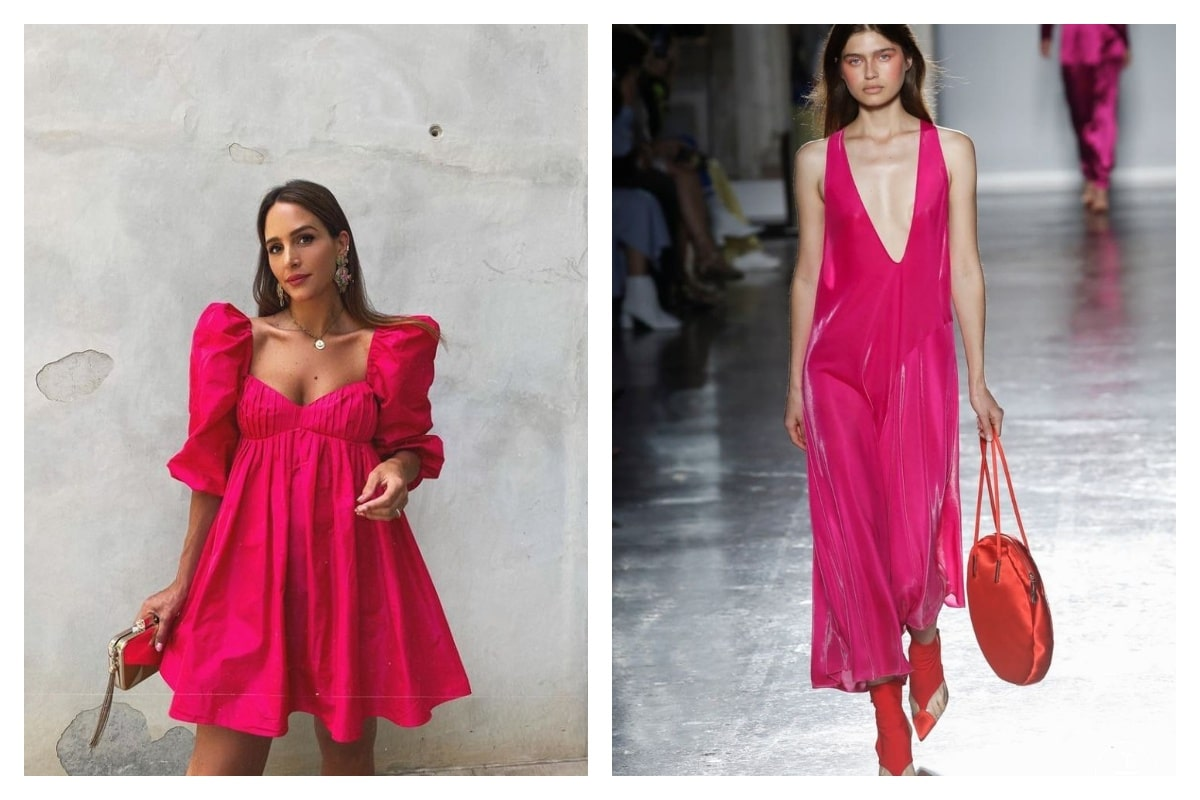 porter la robe rose fuchsia