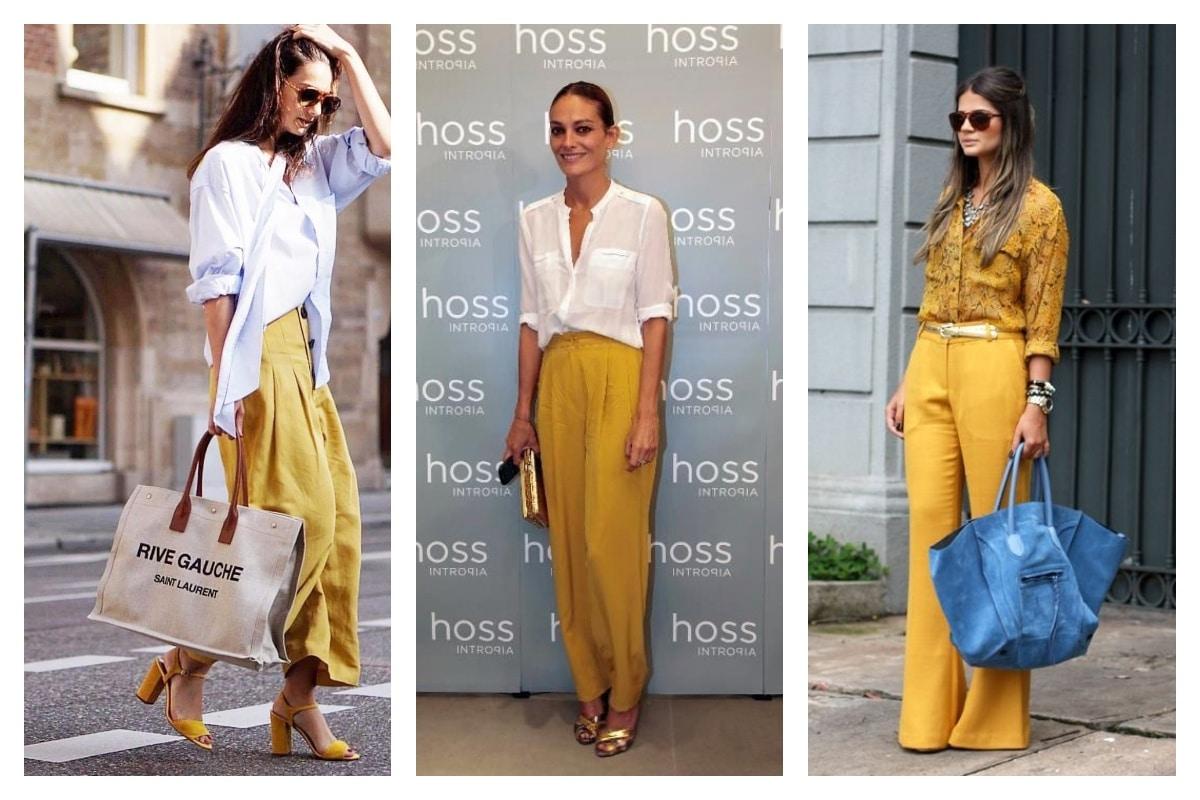 Comment porter le pantalon jaune moutarde