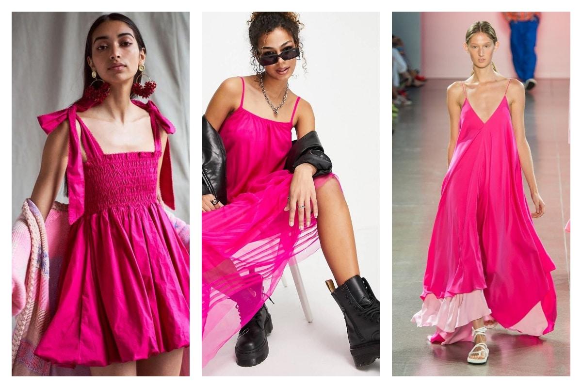 La robe rose fuchsia en version bohème rock chic !