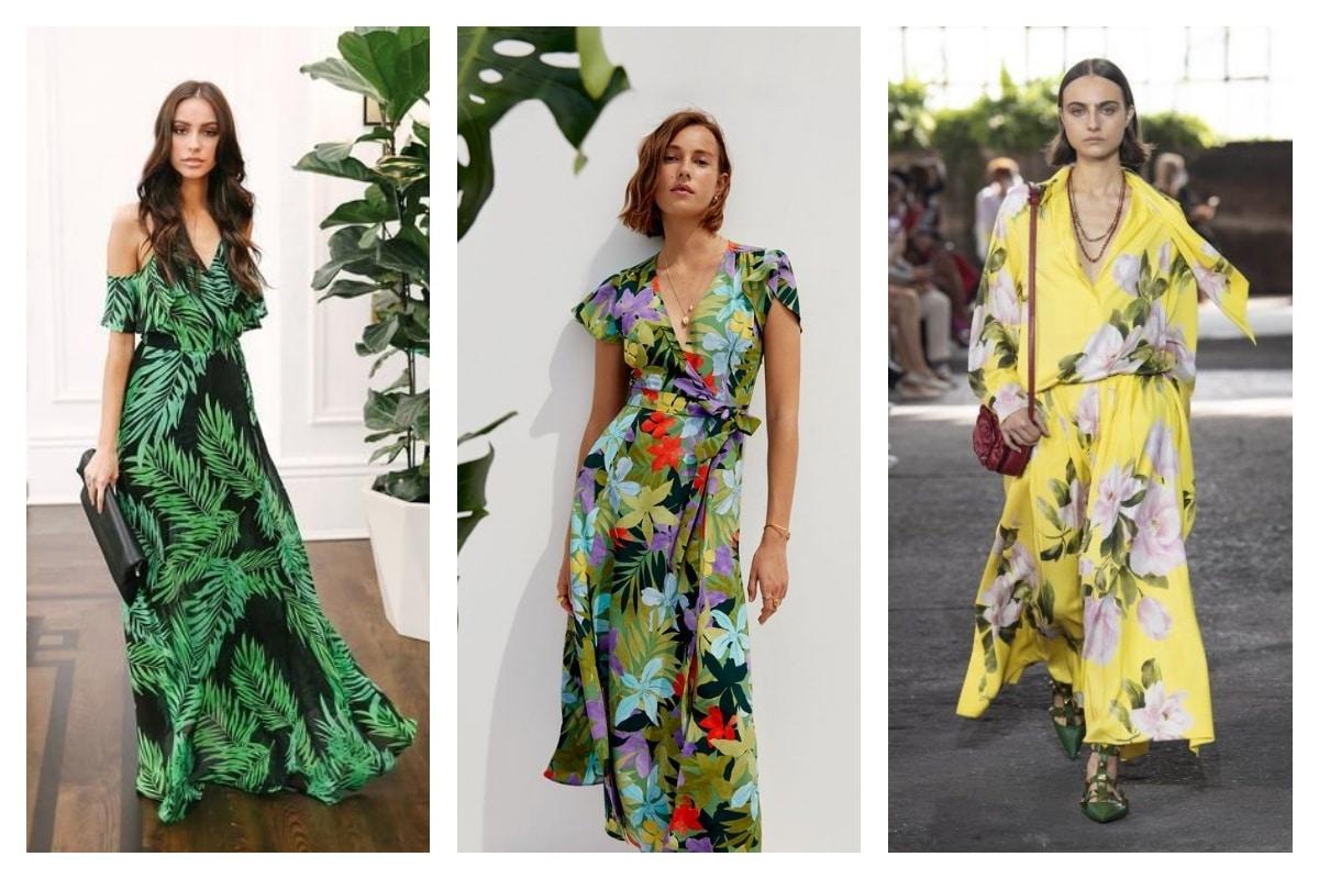 Robe tropicale l'imprimé exotique en total look est de retour!