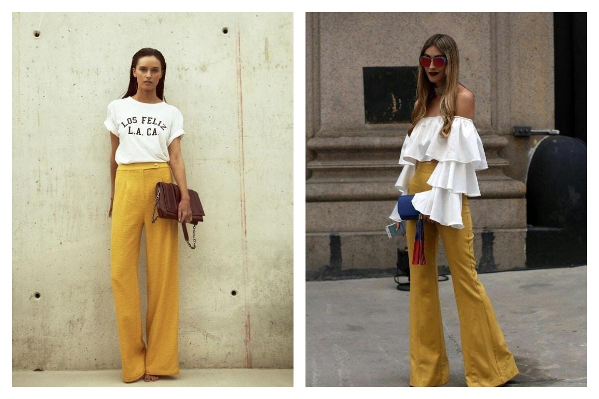 le pantalon jaune moutarde