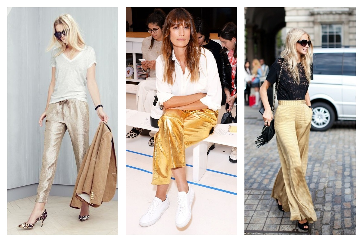 Pantalon doré femme on ose ou pas